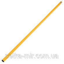 Палка гимнастическая тренировочная (штанга) пластик 1м, цвета в ассортименте, Желтый
