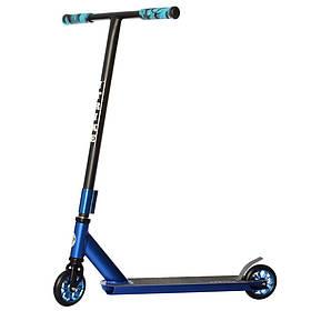 Дитячий трюковий самокат (PU колеса 110 мм, руль84см, алюм+сталь, HIC) iTrike SR2-064-6-BL Синій