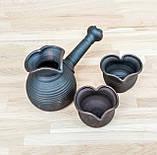 Набір кавовий гончарний Валентинка на 2 особи, фото 4
