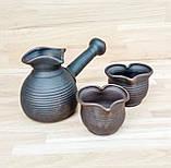 Набір кавовий гончарний Валентинка на 2 особи, фото 5