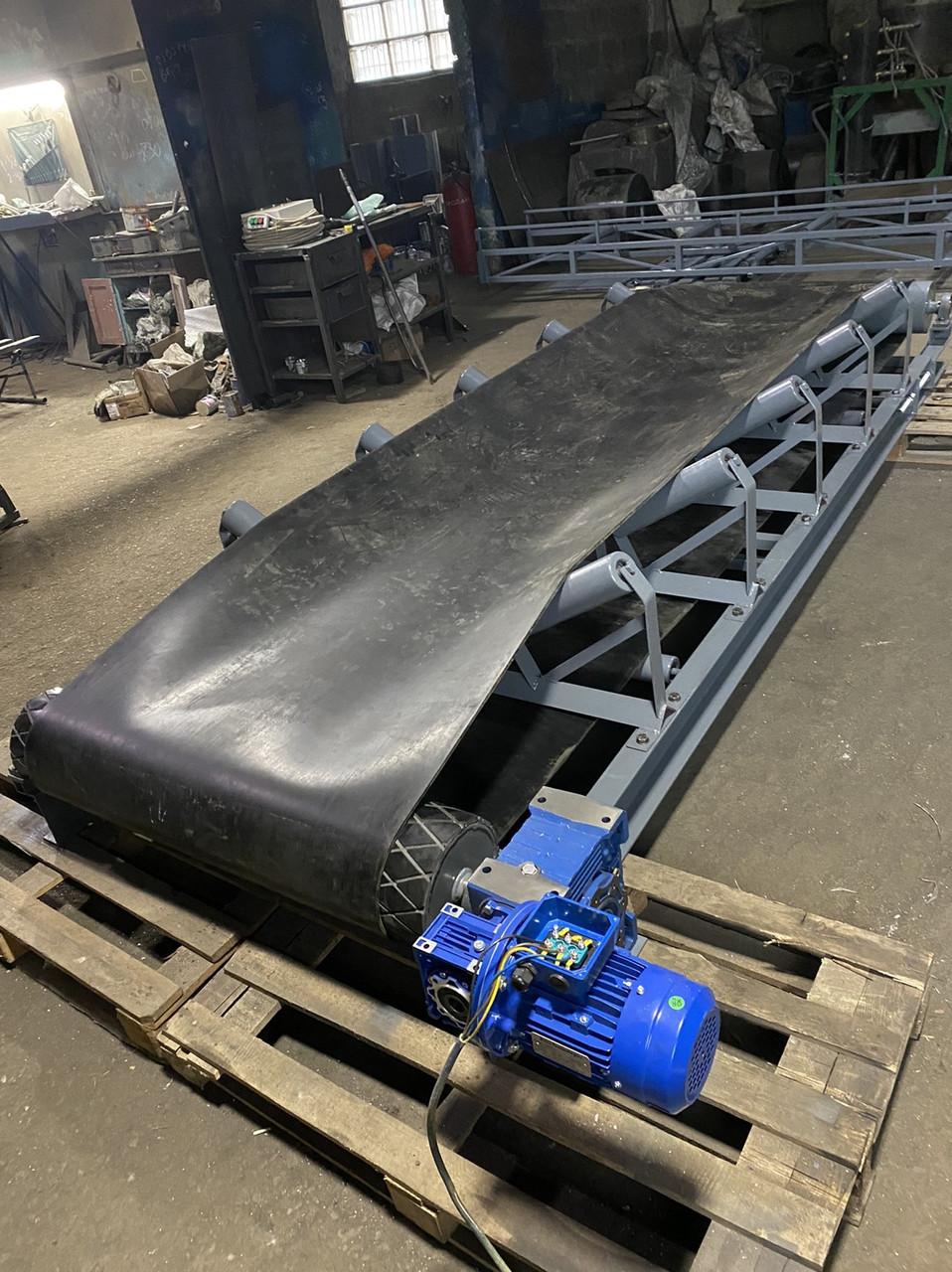 Ленточный конвейер (транспортёр) для транспортировки тяжёлых, сыпучих грузов