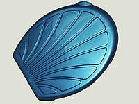 Крышка для унитаза пластм. Ракушка/Ромашка (ефе пластик), (12 шт. в уп.).
