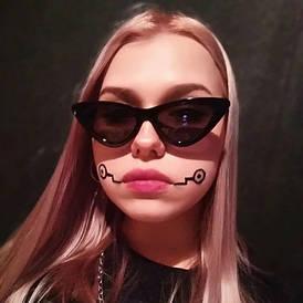 Женские очки кошачий глаз от солнца UV400 (арт. 9788/3) Черный