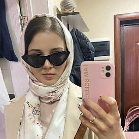 Женские очки кошачий глаз от солнца UV400 (арт. 9788/4) Черный