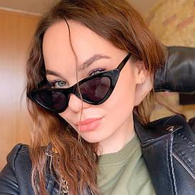 Женские очки кошачий глаз от солнца UV400 (арт. 9788/5) Черный