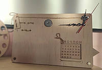 Органайзер для канцелярии - Часы - Вечный календарь Без наполнения Настольный
