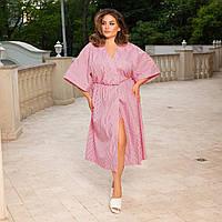 Жіноче плаття на запах великого розміру.Розміри:48/58+Кольору, фото 1