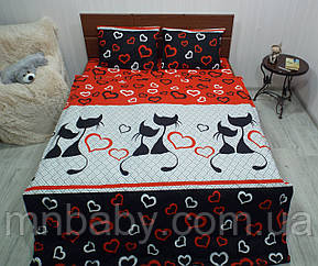 Комплект постельного белья Влюбленные коты