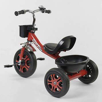 Велосипед детский трехколесный с звонком и двумя корзинами Велосипед трехколесный
