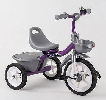 Детский трехколесный велосипед, с резиновыми ненадувными колесами Детский 3-х колесный велосипед