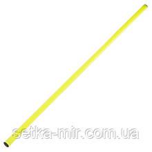 Палка гимнастическая тренировочная (штанга) пластик 1м, цвета в ассортименте, Салатовый