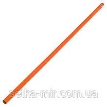 Палка гимнастическая тренировочная (штанга) пластик 1м, цвета в ассортименте, Оранжевый