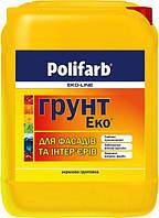 Акриловая грунтовка для фасадов и интерьеров Polifarb Eko-Line Грунт-Эко Универсальный 10 кг Прозрачная