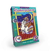 Набір для творчості Ніткографія: Коти на даху