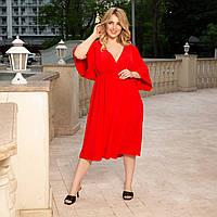 Жіноче плаття на запах великого розміру в стилі кімоно.Розміри:48/58+Кольору, фото 1