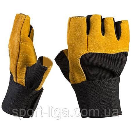 Перчатки атлетические Gold GYM кожаные