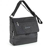 Солидная женская молодежная сумка из прочной ткани Dolly (Долли) 638 черный