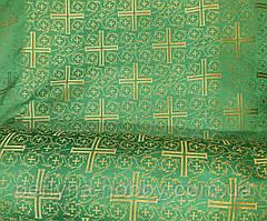 """Тканина церковна """"візантійський Хрест"""" бордова 1,60 м"""