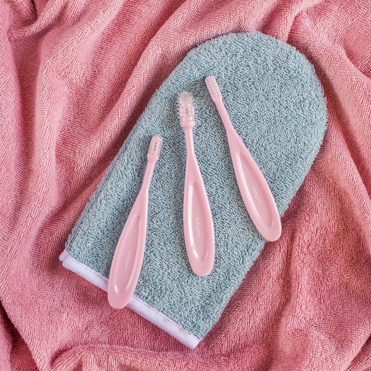 Набір дитячих зубних щіток 3шт. BabyOno