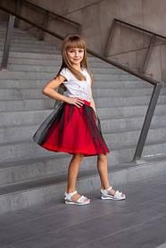 Красная Юбка под вышиванку детская для девочки