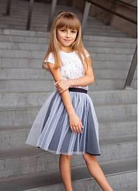 Фатиновая юбка для девочки под вышиванку Юбка в школу
