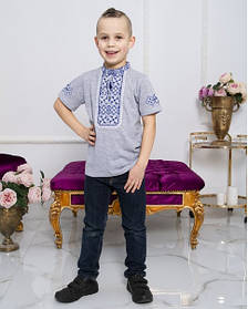 Дитяча вишиванка з коротким рукавом