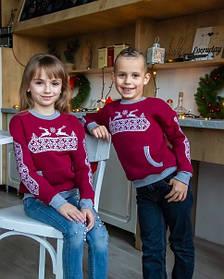 Детский рождественский свитер реглан