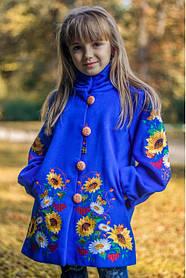Детское кашемировое пальто с вышивкой
