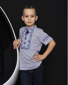 Трикотажна футболка вишиванка для хлопчика