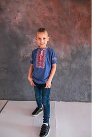 Стильна вишиванка футболка для хлопчика Вишиванки дитячі з коротким рукавом