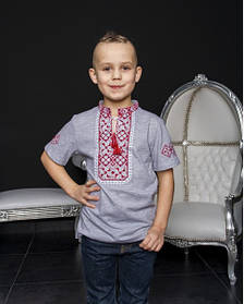 Дитяча вишиванка для хлопчика вишита футболка