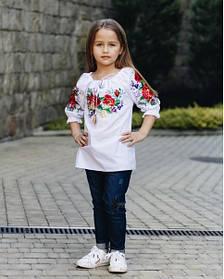 Красива дитяча підліткова вишиванка для дівчинки