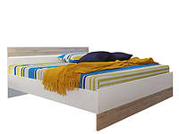 Кровать LOZ/160 Mercur 160х200 BRW Дуб san remo светлый/белый