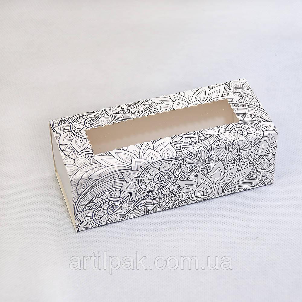 """Коробка з прозорим вікном типу """"пенал"""" 141*59*49 Розмальовки"""