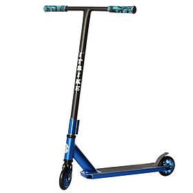 Дитячий трюковий самокат (PU колеса 110 мм, кермо 83, алюм+сталь, HIC) iTrike SR2-067-4-BL Синій