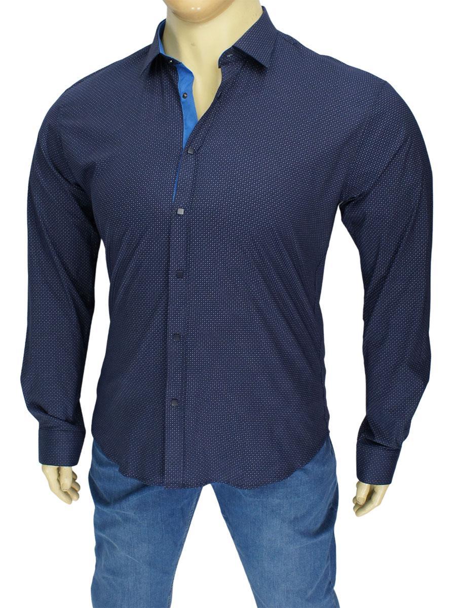 Темно-синя чоловіча сорочка у великому розмірі Negredo 9070 BD 04