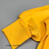 Боди распашонка с длин рук трансф,на кнопках,внеш шов Жёлтый Интерлок 0292 MINIKIN Украина 62(р), фото 2