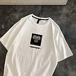 Женская футболка летняя оверсайз с рисунком накаткой (р. 42-46) 6817524, фото 3