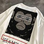 Женская футболка летняя оверсайз с рисунком накаткой (р. 42-46) 6817524, фото 4
