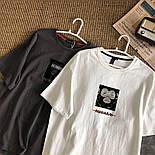 Женская футболка летняя оверсайз с рисунком накаткой (р. 42-46) 6817524, фото 5