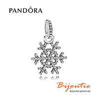 Pandora подвеска-шарм СНЕЖИНКА 390354CZ серебро 925 оригинал