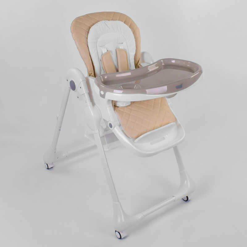 Стільчик для годування Toti W-70016 м'який вкладиш, 4 колеса, знімний столик