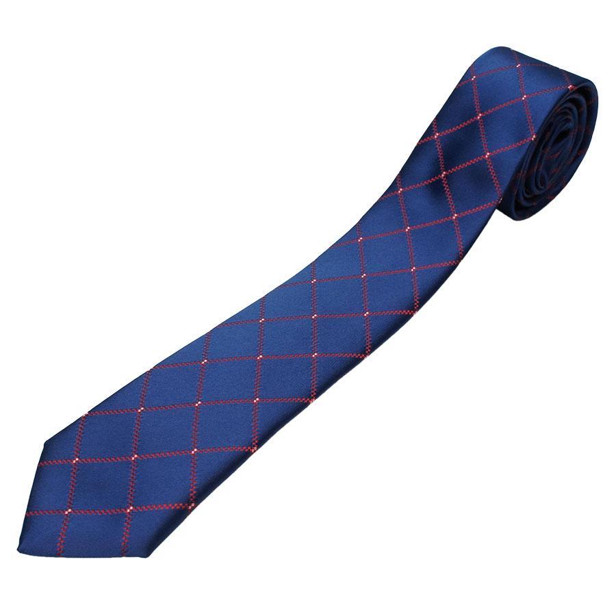 Краватка синя в ромби Pierre Cavelli SCompo-blue4
