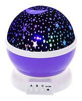 Вращающийся ночник-проектор 'Звездное небо' (фиолетовый) (JDY705002938)