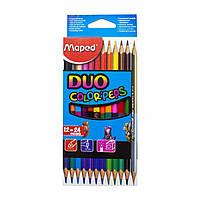 Набор двухцветных карандашей 'Duo', 12 штук Maped (О-00174)