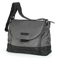 Удобная женская молодежная сумка из прочной ткани Dolly (Долли) 639 серый