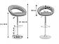 """Барний стілець HOKER BONRO В650 з Підставкою для ніг(120 кг навантаження)""""""""Білий, фото 6"""