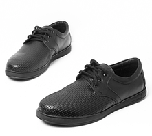 Летние мужские туфли с перфорацией из натуральной кожи