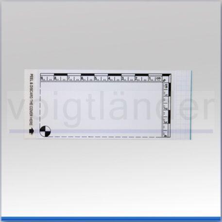 Плівка дактилоскопічна з метричною шкалою 100х115 мм біла