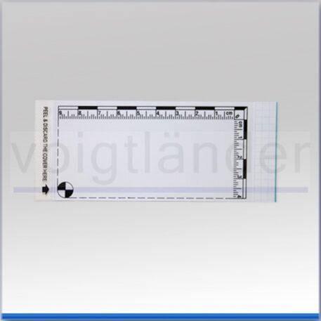 Плівка дактилоскопічна з метричною шкалою 100х115 мм біла, фото 2